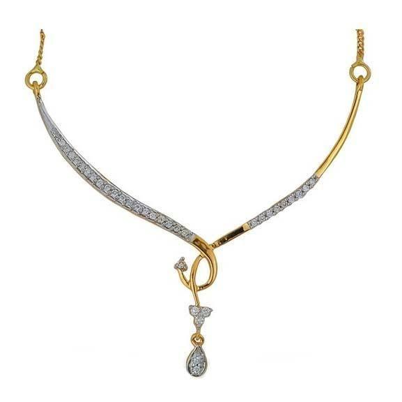 Diamond Mangalsutra Designs India | Kiara American Diamond Mangalsutra Kim0003