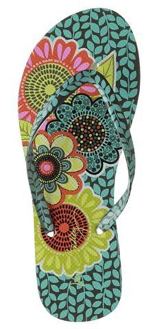 Vera Bradley flip flops - colorful and cute