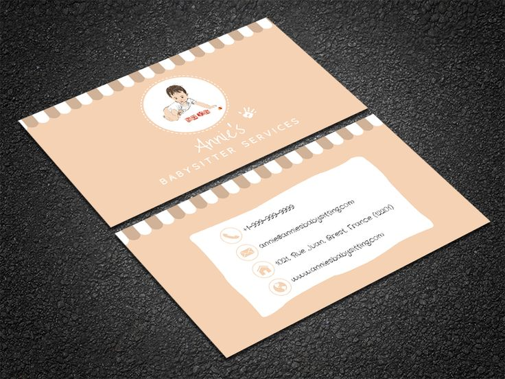 35 best free professional business card edit online and download customize this adorable babysitting card template online with your branding images and details to cheaphphosting Images