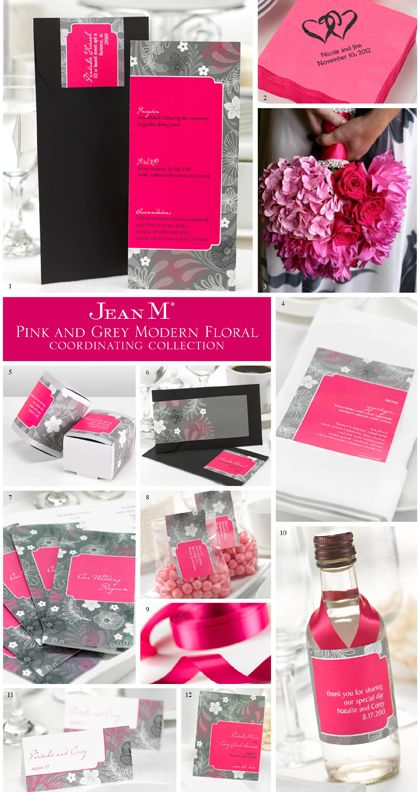 Image detail for -An entire pink and grey wedding theme collection to make coordinating ...