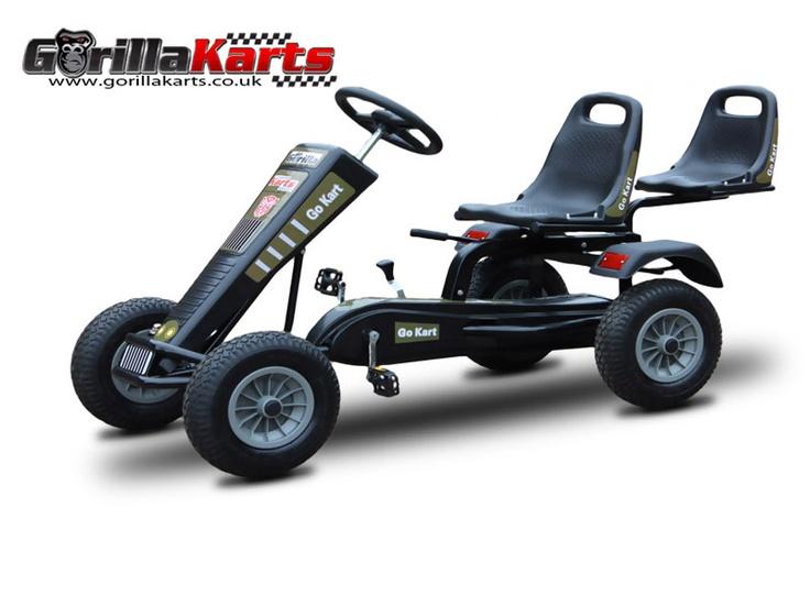 Pedal go kart large 2 seater by Gorilla Karts www.gorillakarts.co.uk