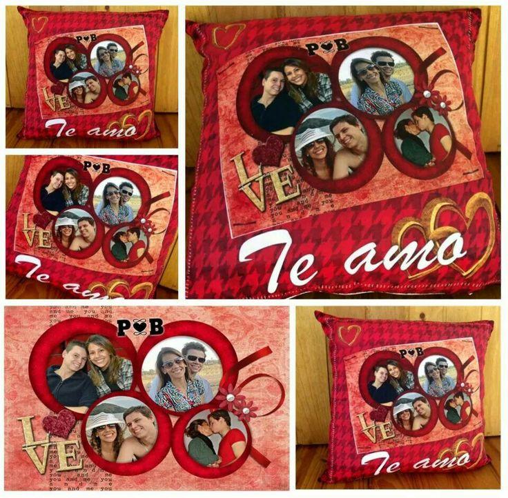 O amor está no ar... almofada personalizada com foto