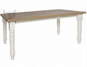 Sevilla stół 6-osobowy biały 160x90cm w stylu prowansalskim