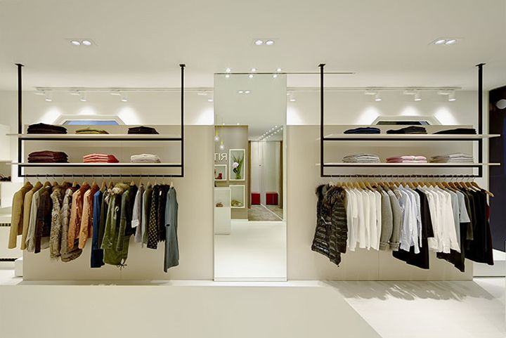 Ritz art fashion store by heikaus biberach germany for Clothing shop interior designs