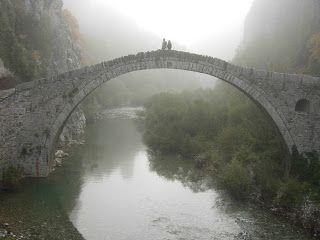 Kokkorou Bridge in the Vikos Gorge, Epirus, Greece.