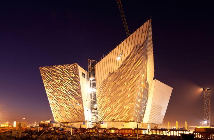 Sunken ship spurs rising city....Belfast's Titanic Center