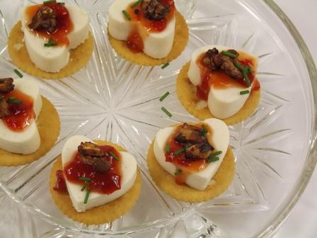 Savoury cheesecake bites
