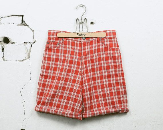 177 kr. Vintage 90s PLAID Checkered Shorts . Men's 1990s by BetaMenswear