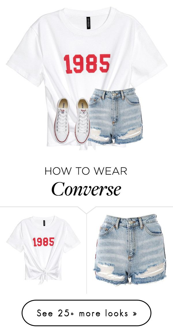 """Untitled #4415"" by laurenatria11 on Polyvore featuring Topshop and Converse"