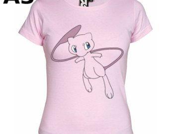 """T-shirt Rose pour Femme (différentes tailles disponibles), logo """"Mew"""" - Format d'impression au choix: A3 ou A4"""