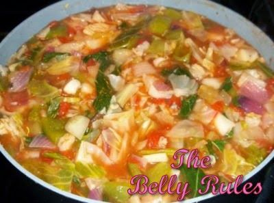 Dolly Parton Cabbage Soup     1 large head cabbage, chopped   2 large onions, chopped   1 28 oz. can diced tomatoes   2 green peppers, ...