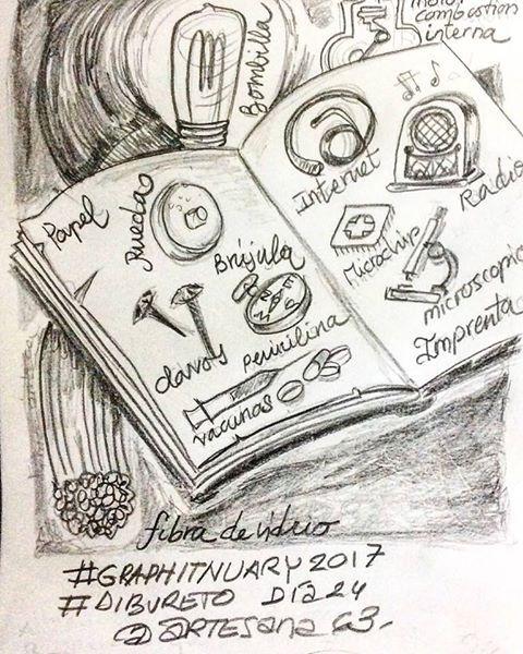 HenArte & TIC's: #graphitnuary2017 #DibuRetosDía 24 Por el placer d...