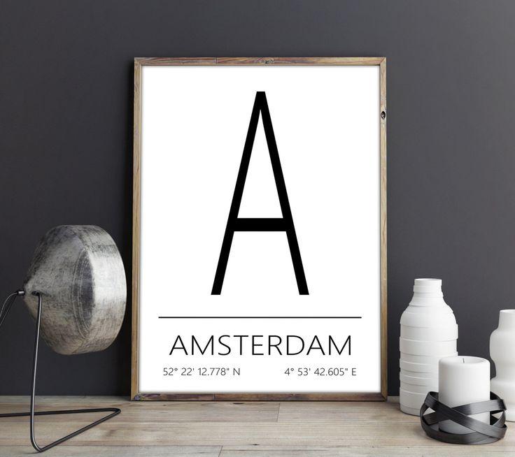 Amsterdam Poster Amsterdam Print Amsterdam Art Amsterdam