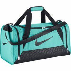 Nike Brasilia 6 Duffel Small - Light Aqua/Black-Duffle & Gym Bags-Backpacks & Bags-WOMEN'S - Sport Chalet
