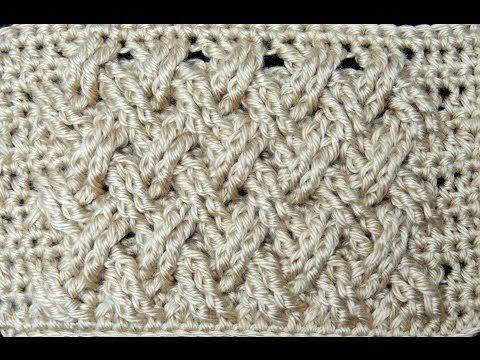 Crochet : Punto Entrecruzado Plano - YouTube