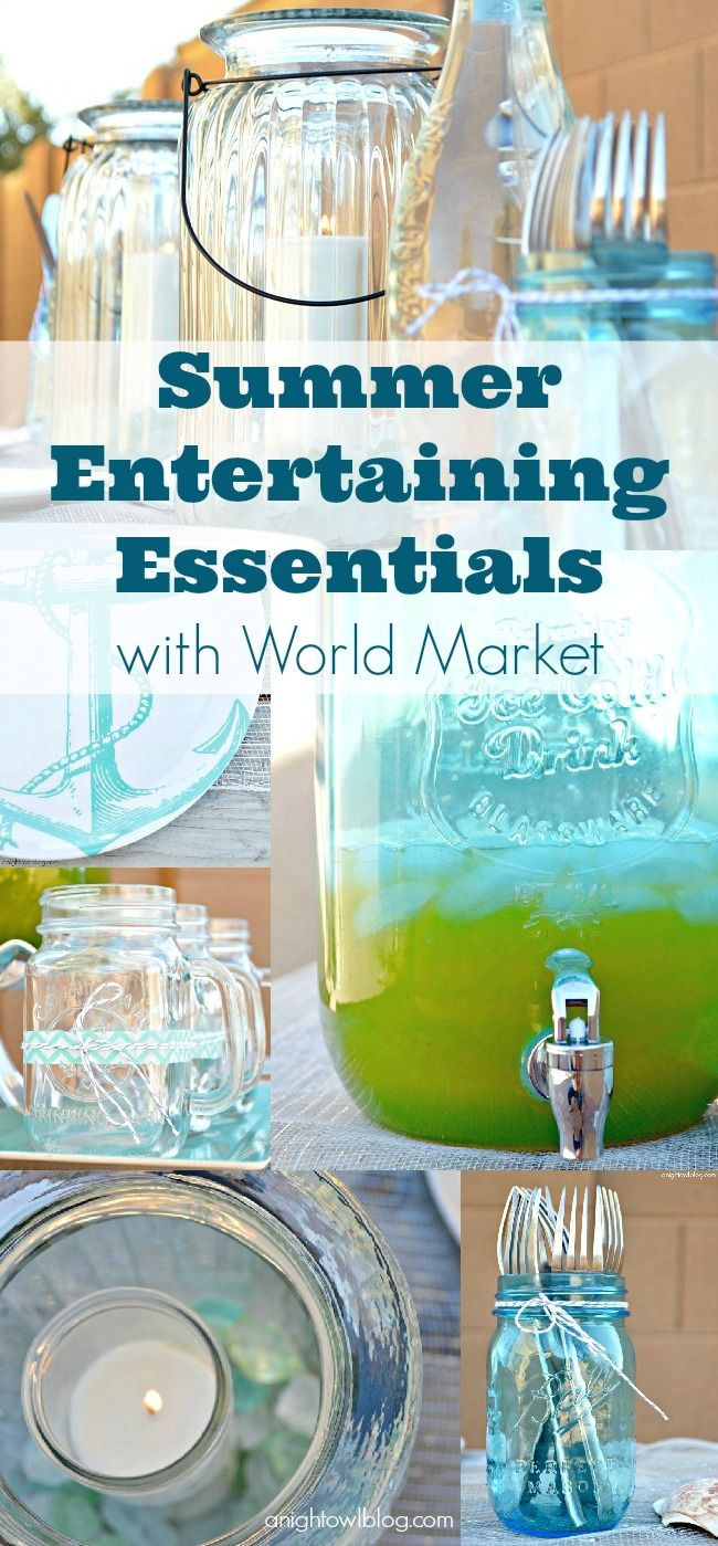Summer Entertaining Essentials with World Market  via A Night Owl >> #WorldMarket Outdoor Entertaining & Decor #SummerFun