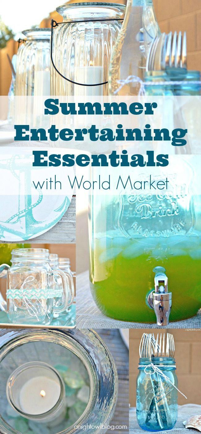 Summer Entertaining Essentials with World Market  via A Night Owl >> #WorldMarket Outdoor Entertaining & Decor #SummerFun