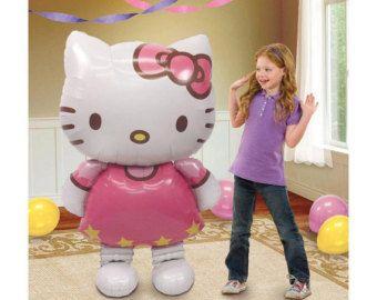 ENORME de 50 Hello Kitty Airwalker Jumbo globo del