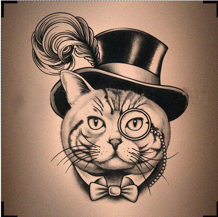 cats in top hats drawing - Google Search