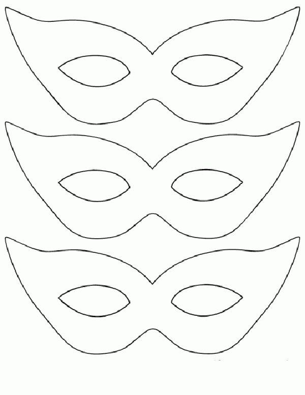 mascara de carnaval 2014 molde