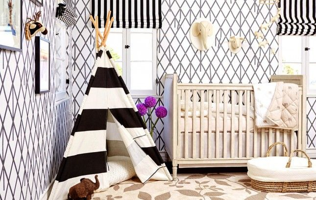 Loving this gender neutral nursery.