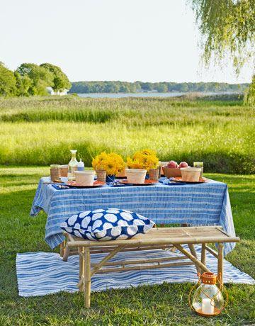 .Alfresco, Tables Sets, Company Picnics, Summer Picnics, Summer Parties, Country Living, Picnics Tables, To Fresh, Summer Time