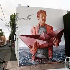 """@fintan_magee ""The Paper Trail"" new wall in Melbourne, Australia."""
