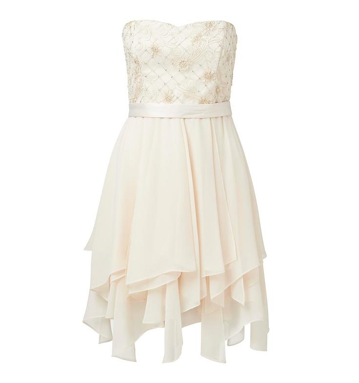 Poppy strapless waterfall dress - Forever New
