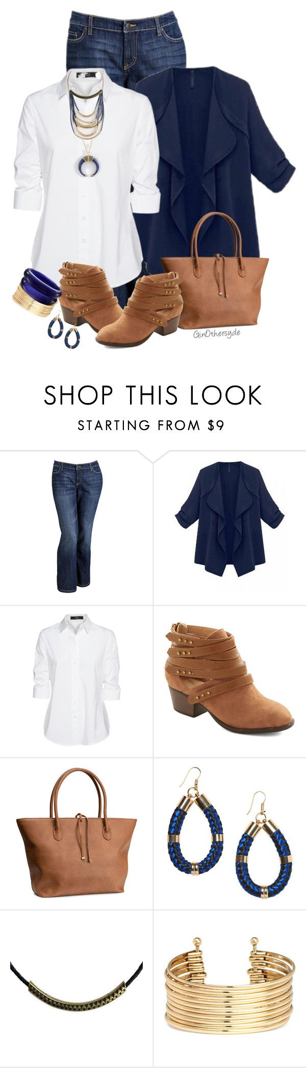 """Curvy Woman - Plus Size"" by ginothersyde ❤ liked on Polyvore featuring Old Navy, Steffen Schraut, H&M, Monki, Zoemou and 333"