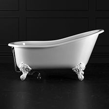 Victoria & Albert Shropshire Bath with feet in picture (in white quarry cast)