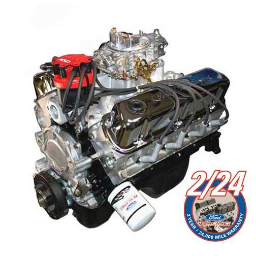 Ford Racing Engine Assembly, 306 CI/340HP With Heads, Carb
