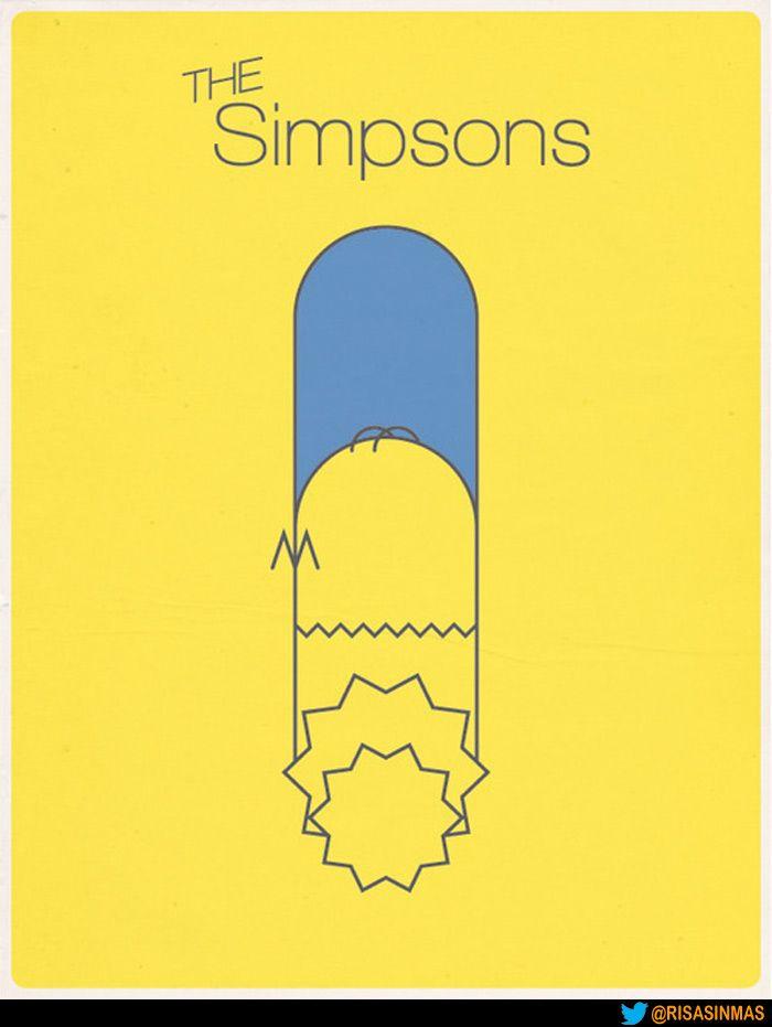 Cartel de Los Simpsons minimalista.