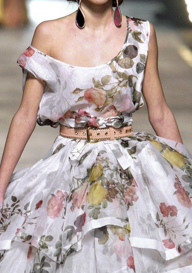 Vivienne Westwood Fall 2010 floral fantasy fashion chic