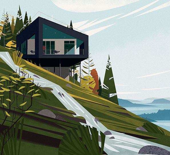 TASCHEN has released a book about cabins featuring some rather lovely illustrations of the secluded structures.