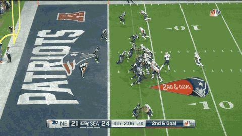 The New England Patriots have won Super Bowl XLIX.  Read more at: http://nesn.com/2015/02/tom-brady-julian-edelman-connect-on-winning-score-of-super-bowl-xlix-gif/