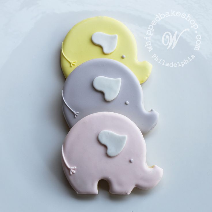 Mod Baby Elephants Cookie favors!