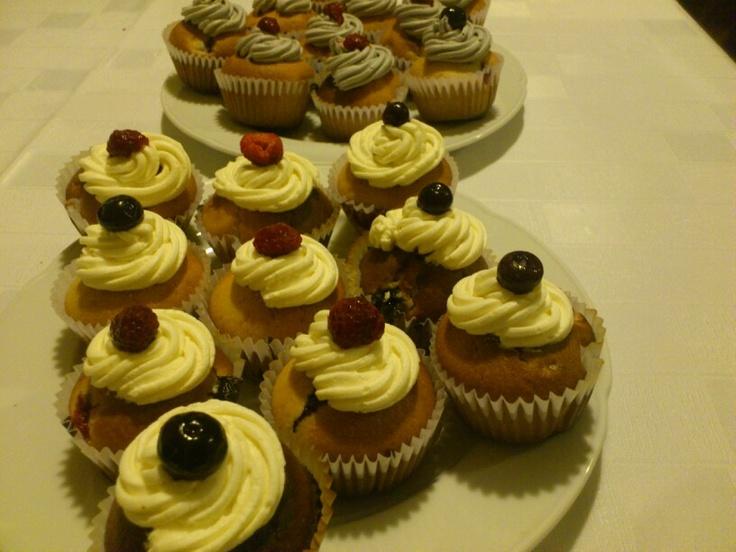 Berries cupcakes