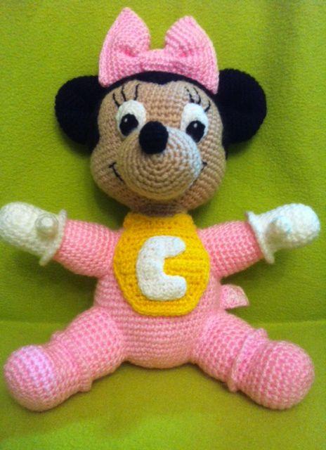 Minnie Bebé Rosa Personalizada con Letra