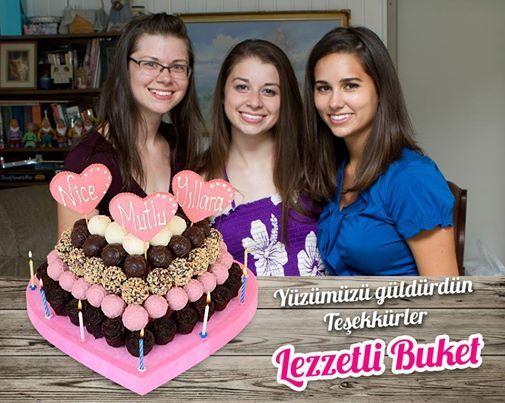 Beğenisini bizle paylaşan Gizem, Yelda, Ruşena Hn a teşekkürler. http://www.lezzetlibuket.com/dogum-gunu-hediyesi-pinkyheart