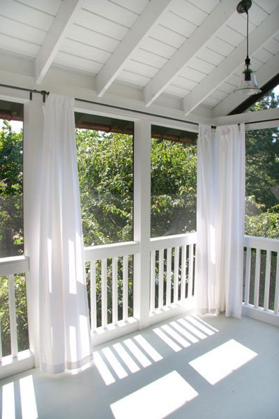 nessy designs porch curtains screened - Screened Patio Ideas
