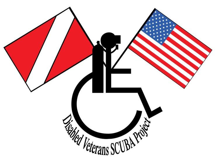 disabled vet assisted living. disabled veterans scuba project logo. vet assisted living