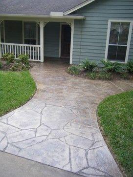 Best 25+ Stamped concrete walkway ideas on Pinterest   Stamped ...