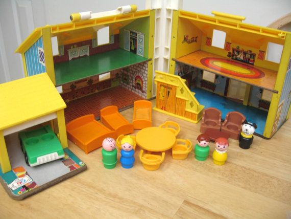 Fisher Price House. Oh the years of fun we had playing with this!