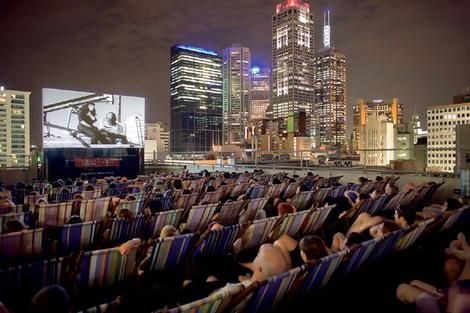 Rooftop cinema on top of Cookie in Melbourne
