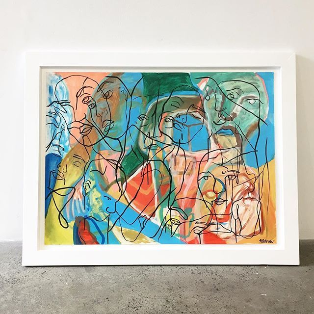 Learned to build a frame (sold)  #hollyschroder #schroder #painting #art #contemporaryart #design