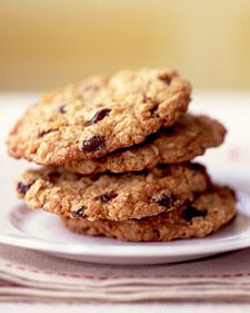awesome oatmeal cookies! we substituted 1/2 cup flour in place of wheat germ (because we didn't have any) and used toffee bits...perfect recipe!!!
