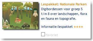 Lespakket: Nationale Parken: digibordlessen voor groep 5 t/m 8 over landschappen, flora en fauna en topografie.