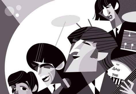 The Beatles by Pablo Lobato | Art in 2019 | Pinterest | Beatles art