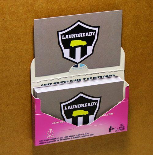 24 best business cards images on pinterest business cards carte the orbit gum pack business card holder hack the closet entrepreneur colourmoves