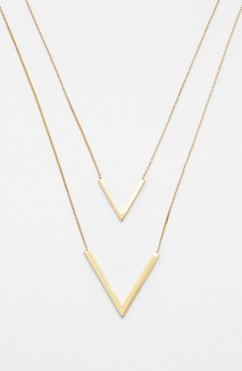 Vince Camuto 'Very Vince' Double V Pendant Necklace available at #Nordstrom